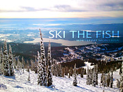 Teshia Art Framed Prints - Ski the Fish Whitefish Montana Framed Print by Teshia Art