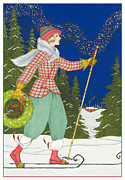 Winter Night Posters - Ski Vogue Poster by Lynn Bywaters