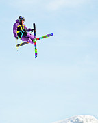 Action Sports Framed Prints - Ski X Framed Print by Theresa Tahara