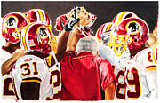 League Drawings Prints - Skins Nation Print by Freddie Simpkins