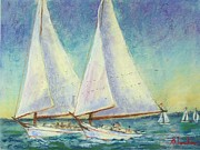 Skip Jack Races Print by Bruce Schrader