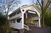 Bill Cannon Framed Prints - Skippack Covered Bridge Framed Print by Bill Cannon