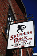 Brick Building Prints - Skippers Dock Print by Karol  Livote