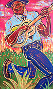 Angel Blues  Painting Prints - Skippin Blues Print by Robert Ponzio