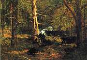 Autumn Scene Prints - Skirmish in the Wilderness Print by Winslow Homer