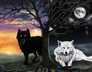 Norse Mythology Prints - Skoll and Hati Print by Amanda Makepeace