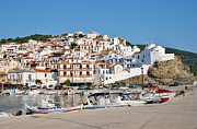 Skopelos Photos - Skopelos Town harbour Greece by David Fowler