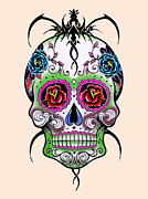 Day Of The Dead  Digital Art - Skull 11 by Mark Ashkenazi