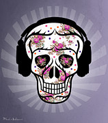 Sugar Skull Digital Art - Skull 2 by Mark Ashkenazi