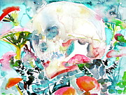 Skull Paintings - SKULL and MUSHROOMS.1 by Fabrizio Cassetta