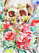 Skull Paintings - SKULL and ROSES.1  by Fabrizio Cassetta