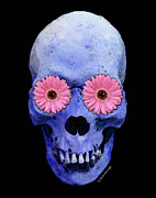 Skull Art - Day Of The Dead 1 Print by Sharon Cummings