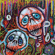 Drama Mixed Media - Skull Crew by Laura Barbosa