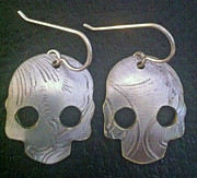 Mexico Jewelry - Skull Earrings by Robert Redus