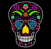 Sugar Skull Digital Art - Skull by Mark Ashkenazi