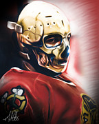 Goalie Mask Framed Prints - Skull Mask Framed Print by Mike Oulton