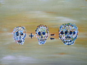 Mathematics Painting Prints - Skull Mathematics Print by Fabrizio Cassetta