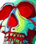 Skull Original Madart Painting Print by Megan Duncanson