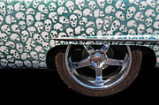 Chrome Skull Prints - Skull Patterns Print by Dave Mills