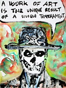 Skull Paintings - SKULL quoting OSCAR WILDE.1 by Fabrizio Cassetta
