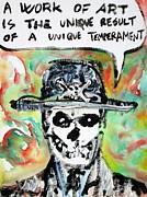 Skull Quoting Oscar Wilde.1 Print by Fabrizio Cassetta