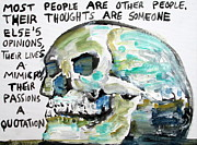 Wilde Framed Prints - SKULL quoting OSCAR WILDE.10 Framed Print by Fabrizio Cassetta