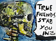Skull Paintings - SKULL quoting OSCAR WILDE.2 by Fabrizio Cassetta