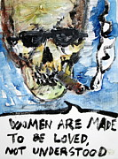 Oscar Wilde Posters - SKULL quoting OSCAR WILDE.6 Poster by Fabrizio Cassetta