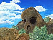 Landmark Drawings Prints - Skull Rock Print by Anastasiya Malakhova