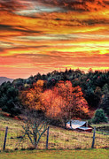 Sky Ablaze - Blue Ridge Sunrise I Print by Dan Carmichael