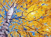 Sky Birch Print by Nancy Merkle