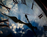 Clock Hands Prints - Sky Clock Print by Lane Erickson