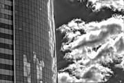 Reflections - Sky Clouds and Office Building by Robert Ullmann