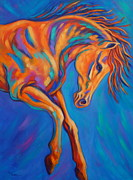 Contemporary Horse Posters - Sky Dancer Poster by Theresa Paden