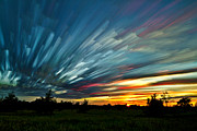 Time Stack Prints - Sky Feathers Print by Matt Molloy