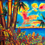 Tropical Sunset Tapestries - Textiles Prints - Sky Fire Print by Daniel Jean-Baptiste