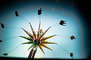 Carnival Ride Posters - Sky Flyer Poster by Colleen Kammerer