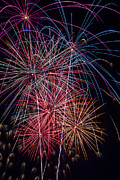 Pyrotechnic Photo Framed Prints - Sky Full Of Fireworks Framed Print by Garry Gay