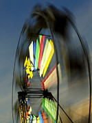 Wheel Tapestries - Textiles Posters - Sky High Ferris Wheel Poster by Harry Enderle