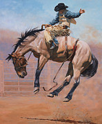 Saddle Paintings - Sky High by Michelle Grant