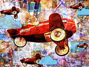 Plane Mixed Media - Sky King Patrol by Robert Ball