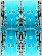 Sky Ladders Print by Wendy J St Christopher