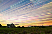 Barn Digital Art Posters - Sky Matrix Poster by Matt Molloy