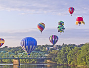 Great Falls Balloon Festival Framed Prints - Sky Parade Framed Print by Kim Leighton