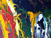 Raining Paintings - Sky Raining Colors by John Revitte