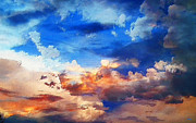 Cloudscape Digital Art - Sky Textures by McCarthy Designs