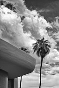 Grey Clouds Framed Prints - SKY-WARD Palm Springs Framed Print by William Dey