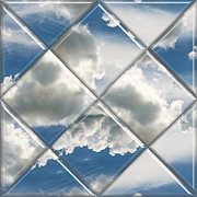 Photo Manipulation Digital Art Framed Prints - Sky Watch Framed Print by Wendy J St Christopher