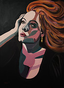 Adele Painting Metal Prints - Skyfall Metal Print by Christel  Roelandt