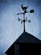 Weathervane Photo Prints - Skyfall Deer Weathervane  Print by Edward Fielding